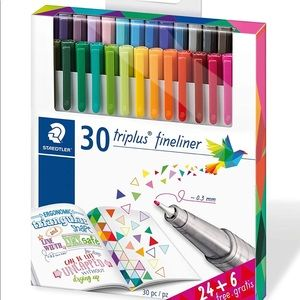 ❤️3 for 88❤️ Staedler Triplus Fineliner set of 30